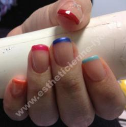 ongles gel sur ongle naturel cours et french plusieurs coloris