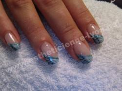 ongle gel nails art griff d or degrade de bleu