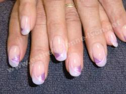 ongles gel et nails art coton et parme