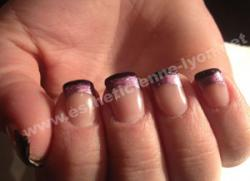 ongles en gel french gel en deux couleurs