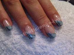 ongle gel nails art griff d or degrade de bleu
