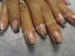 ongle en gel décoration nails art
